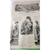 Kcg La Moda Elegante Revista De Modas Del Año 1883 !!!