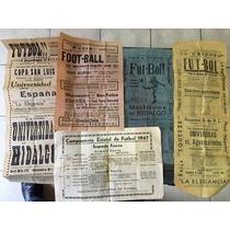Lote De Antiguos Carteles De Fútbol De 1947 San Luis Potos