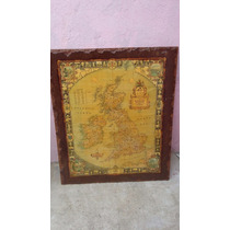 Cuadro Antiguo Con Mapa