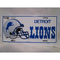 Placa De Los Lions De Detroit