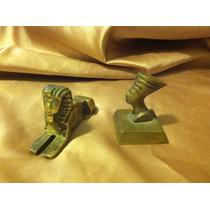 Set De 2 Figuritas Egipcias De Bronce