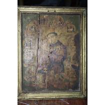 Antigua Litografia Sobre Madera