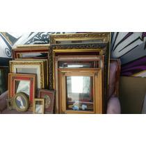 Ciadros Dorados Terciopelo Rojo Vintage Antiguos