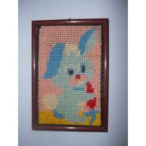Cuadro Infantil Conejo Vintage