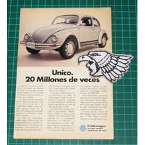 Antiguo Anuncio De Papel Publicidad De Autos Volswagen Vocho