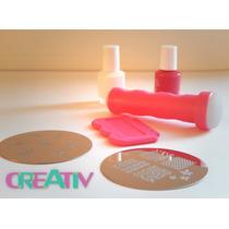 Kit Estampado En Uñas Placas Sellos, Creativ