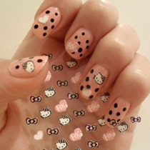 Sticker/calcomanía/esténcil Uñas Manicure Hello Kitty Kawaii