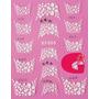 Sticker Uñas Frances 3d Set 4sobre Xf866,xf817,xf818,xf870