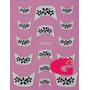 Sticker Uñas Frances 3d Set 4sobre Xf831,xf866,xf823,xf869