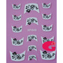 Sticker Uñas Frances 3d Set 4sobre Xf848,xf856,xf857,xf858