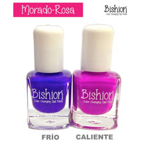 Kit 10 Esmaltes De Uñas Que Cambian De Color- Bishion Termo
