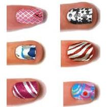 #1 Calcomania Decoración Esmalte Sticker Uña 3d Manicure
