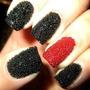 Decoración Uñas Caviar Set 3 Baline Negro Dorado Crystal Mn4