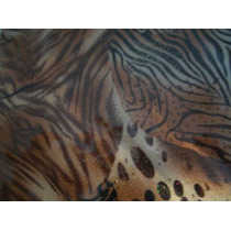 Animal Printt Tela Con Sticker Eex