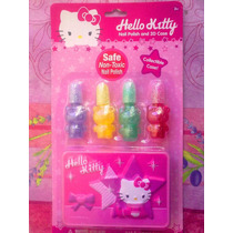 Hello Kitty Set De Esmaltes Para Unas Para Ninas