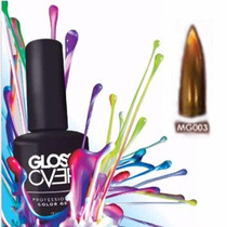 Esmalte Gel Uñas Tipo Gelish Gloss Over Color Cobre Magic