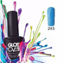 Esmalte De Gel Uñas Tipo Gelish Gloss Over Color Azul 15ml
