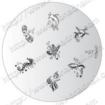 Placa De Diseño (nail Stamping) Konad M27