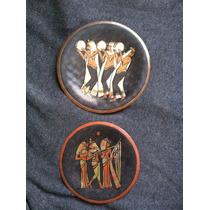 Par De Platos Decorativos Egipcios