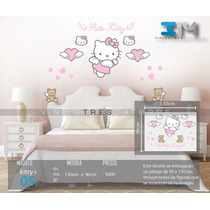 Viniles Decorativo Hello Kitty. Calcomanía De Pared Sticker