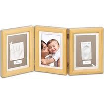 Set Imprime Las Huellas Marco Foto Decoración Bebé Baby Art