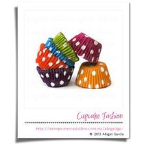 240 Capacillos Lunares Variado Estándar #73 Cupcake #1032