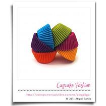 240 Capacillos Lisos Variado Estándar #73 Cupcake #1052