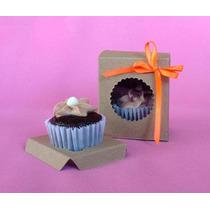 25 Cajas Minis Kraft Con Inserto (minicupcakes, Cake Pops)