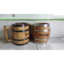 Tarro De Barril Desde Tequila .personalizado. Cap.medio Lt.