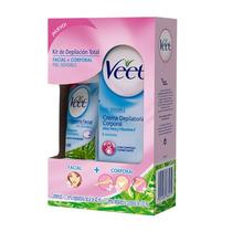Veet Kit Cremas Depilación Total Facial + Corporal P/sens.