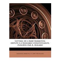 Lettres De Labb Barbotin, D Put, Emmanuel Barbotin