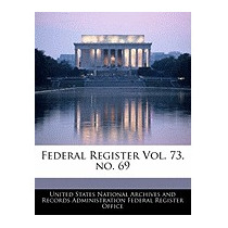 Federal Register Vol. 73, No. 69, United States National
