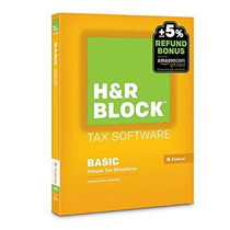 H & R Block 2015 Software Básico Impuesto Reembolso Oferta D