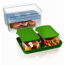 Almuerzo Fit & Fresh On The Go Set Con Bolsa De Hielo 3 Reut