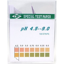 De Plástico Tiras De Prueba De Ph Uso Universal (ph 4.5-9.0)