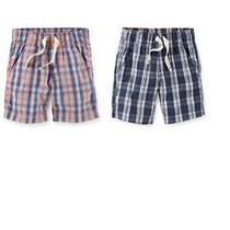 Niños Niño 2 Paquete De Carter Pull-on Plaid Shorts Tallas 2