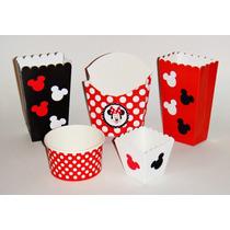 Dulceros Infantiles Mickey Mouse Y Mimi Roja Mesa De Dulces