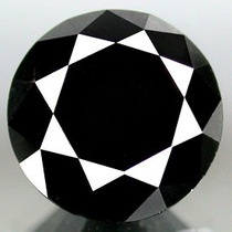 Diamante Negro .65 Cts Redondo 100% Natural Certificado