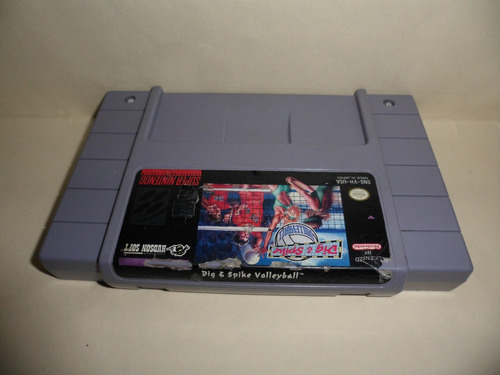 dig spike volleyball snes