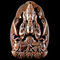 Hermoso Talisman Thai De Kwan Yin Madera Tallada 280$ Hwo