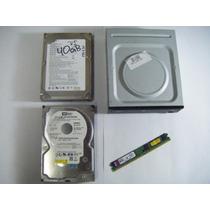 Paquete D. Duros 320 , 40 Gb Dvd R/w Y Memoria Todo Al 100%