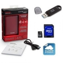 Disco Duro Externo 1t + Memoria Usb 16gb + Msd Card 16gb E4f