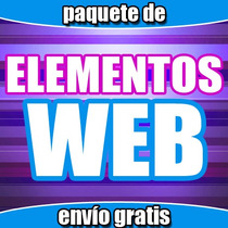 Paquete De Elementos Web (plantillas, Photoshop, Diseño)