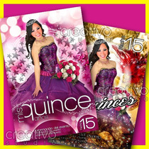 Kit Imagenes Editables P Invitaciones Xv Y Mas Materiales