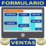 Formulario Planilla De Envío De Datos De Venta Mercadolibre