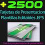 Vectores Editables 2500 Tarjetas De Presentacion Mas Regalos