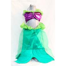 Hermoso Disfraz De Sirenita Ariel !! Sirena Traje Niña Mar