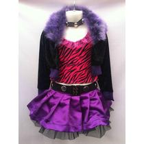 Disfraz Loba Tipo Clawdeen Wolf Monster High Niña Halloween