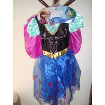 Frozen Ana Anna Vestido Disfraz Niña Original Vv4