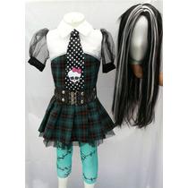 Disfraz Tipo Frankie Stein Monster High Para Niña